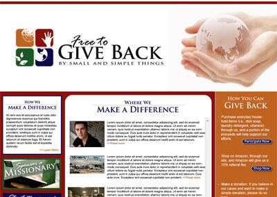 Free to Give Back