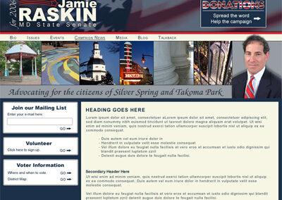 Jamie Raskin MD Senate Campaign
